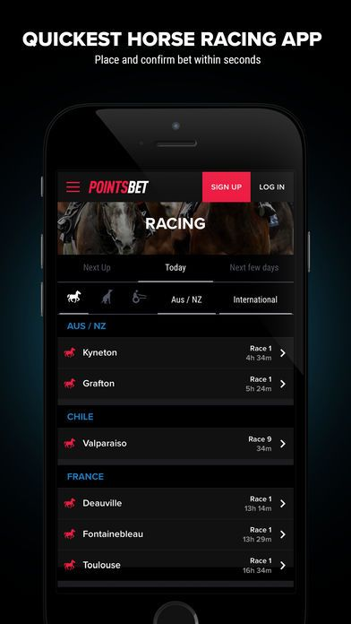 mobile app Pointsbet